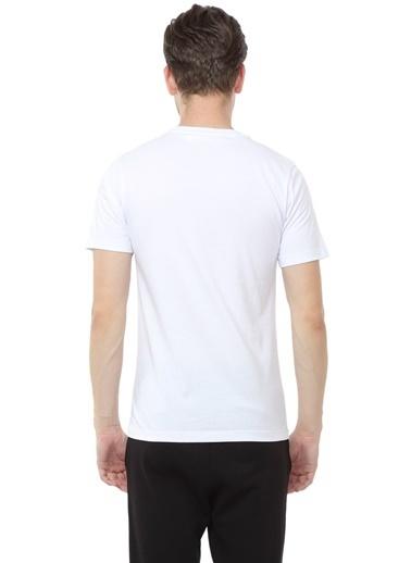 New Balance Erkek  Tişört MPS001-WT015 Beyaz